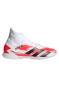 Adidas - Buty halowe dla dzieci adidas Predator 20.3 IN EF1954. Zapięcie: sznurówki. Materiał: syntetyk, materiał. Szerokość cholewki: normalna. Wzór: nadruk. Sezon: lato. Sport: piłka nożna