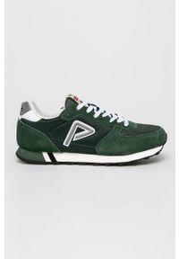 Zielone sneakersy Pepe Jeans na sznurówki, z cholewką