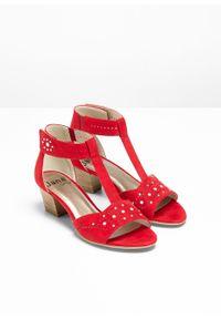 Czerwone sandały bonprix klasyczne, z aplikacjami