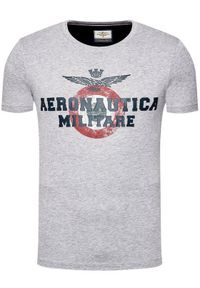 Aeronautica Militare T-Shirt 211TS1843J511 Szary Regular Fit. Kolor: szary