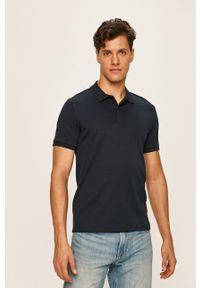 Niebieska koszulka polo Selected casualowa, polo, na co dzień, krótka