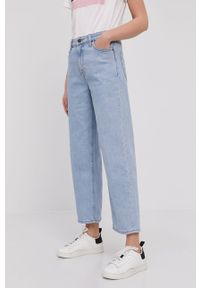 Niebieskie jeansy loose fit Lee gładkie