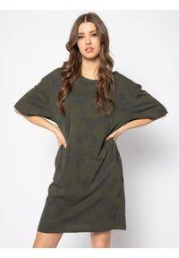 Zielona sukienka G-Star RAW prosta, na co dzień, casualowa