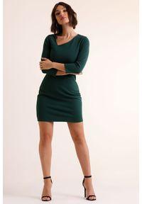 Zielona sukienka IVON asymetryczna, mini