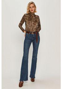 Wielokolorowa koszula Guess Jeans z długim rękawem, casualowa, na co dzień, z klasycznym kołnierzykiem