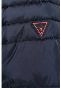 Niebieska kurtka Guess na co dzień, casualowa, z kapturem