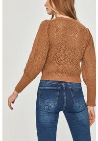 Sweter rozpinany Answear Lab gładki, długi