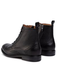 Czarne buty zimowe Gino Rossi na co dzień, casualowe, z cholewką