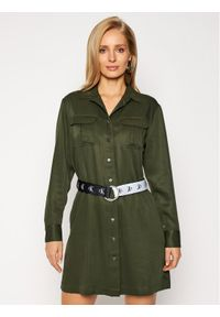 Zielona sukienka koszulowa Calvin Klein Jeans