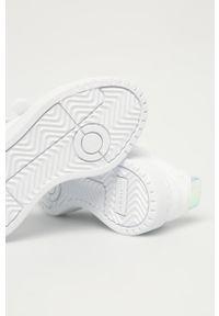 Białe buty sportowe adidas Originals na rzepy, z cholewką