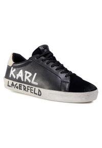 Czarne półbuty Karl Lagerfeld casualowe, z cholewką