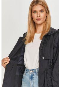 Niebieski płaszcz MAX&Co. gładki, z kapturem