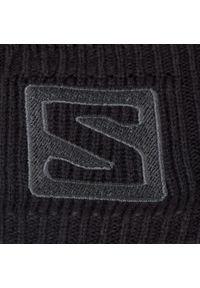 Czarna czapka zimowa salomon