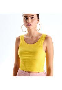 Żółta koszula Cropp na ramiączkach