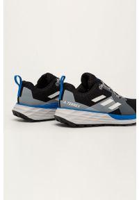 Szare buty trekkingowe adidas Performance na sznurówki, z cholewką, Adidas Terrex