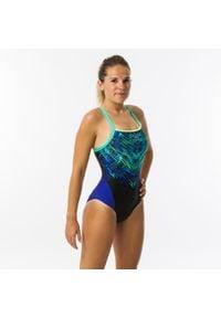 NABAIJI - Strój Pływacki Jednoczęściowy Lexa Mixen Damski. Kolor: wielokolorowy, zielony, niebieski, czarny. Materiał: poliamid, materiał, poliester