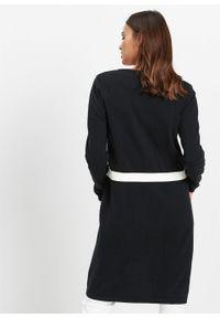 Długi sweter bez zapięcia bonprix czarny. Kolor: czarny. Długość: długie