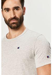 Szary t-shirt Champion na co dzień, z aplikacjami, casualowy