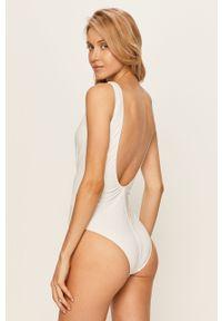 Biały strój kąpielowy Pieces z odpinanymi ramiączkami