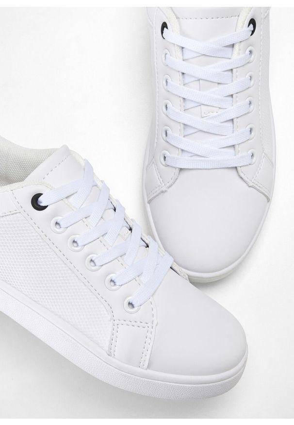 Białe buty sportowe bonprix w kolorowe wzory