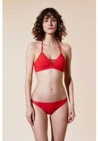 Czerwony strój kąpielowy dwuczęściowy Etam