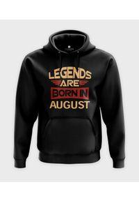 MegaKoszulki - Bluza z kapturem Legends are born in + Twój miesiąc. Typ kołnierza: kaptur