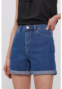 only - Only - Szorty jeansowe. Okazja: na co dzień. Stan: podwyższony. Kolor: niebieski. Materiał: jeans. Styl: casual