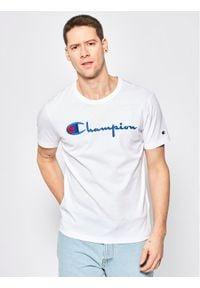 Champion T-Shirt Script Logo 210972 Biały Regular Fit. Kolor: biały