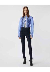 Burberry - BURBERRY - Granatowe legginsy w kratkę. Stan: podwyższony. Kolor: niebieski. Materiał: dzianina. Wzór: kratka. Styl: klasyczny #3