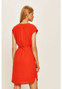 Czerwona sukienka Vila mini, na co dzień, prosta, casualowa