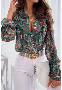 Wielokolorowa bluzka IVET elegancka