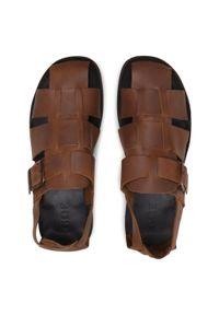Sandały GOE - HH1N4073 Brown. Kolor: brązowy. Materiał: skóra, nubuk. Sezon: lato