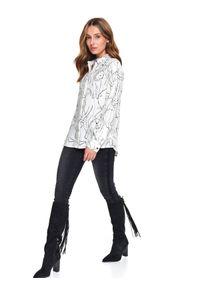 TOP SECRET - Koszula z nadrukiem. Kolor: biały. Długość rękawa: długi rękaw. Długość: długie. Wzór: nadruk. Sezon: wiosna. Styl: elegancki