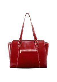Torba na laptopa MCKLEIN Aldora 15.6 cali Czerwony. Kolor: czerwony. Materiał: skóra. Wzór: paisley. Styl: klasyczny