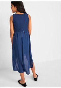 Sukienka dziewczęca na uroczyste okazje z tiulową wstawką bonprix kobaltowy. Kolor: niebieski. Materiał: tiul #5