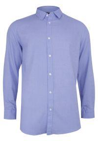 Niebieska koszula casual Brave Soul na co dzień, długa, z długim rękawem
