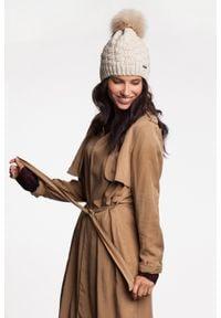 Standardowa czapka damska kostka PaMaMi - Ciemnoszary. Kolor: szary. Materiał: poliamid, akryl. Styl: klasyczny