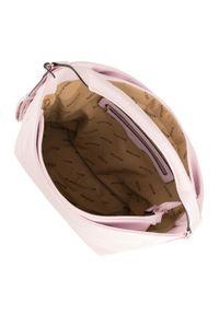 Różowa torebka worek Wittchen na lato, z frędzlami