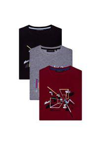 T-shirt Lancerto w kolorowe wzory