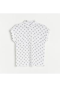 Reserved - Koszula z wiskozy - Czarny. Kolor: czarny. Materiał: wiskoza