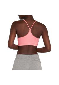Biustonosz sportowy damski Energetics Gigi 273440. Materiał: tkanina, poliester, elastan, włókno, skóra, materiał