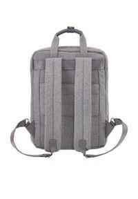 Szary plecak TITAN elegancki, w kolorowe wzory