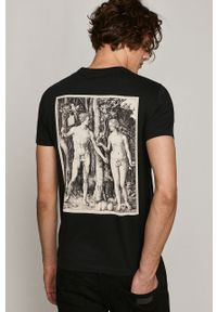 Czarny t-shirt medicine z nadrukiem