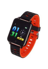 Czerwony zegarek GARETT sportowy, smartwatch