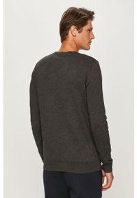 Selected - Sweter. Kolor: szary. Materiał: materiał. Długość rękawa: długi rękaw. Długość: długie