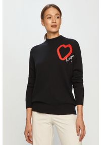 Czarny sweter Hugo na co dzień, długi