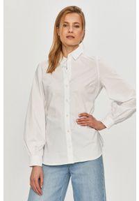 Samsoe & Samsoe - Samsoe Samsoe - Koszula. Okazja: na co dzień. Kolor: biały. Materiał: tkanina. Długość rękawa: długi rękaw. Długość: długie. Styl: casual