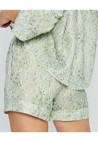 MARLU - Spodenki z zielonym printem Tigre. Kolor: zielony. Materiał: elastan, bawełna. Wzór: nadruk. Sezon: lato
