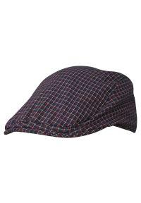 Niebieska czapka EM Men's Accessories w kratkę, wakacyjna