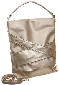 Złota torebka Badura z aplikacjami, zdobiona